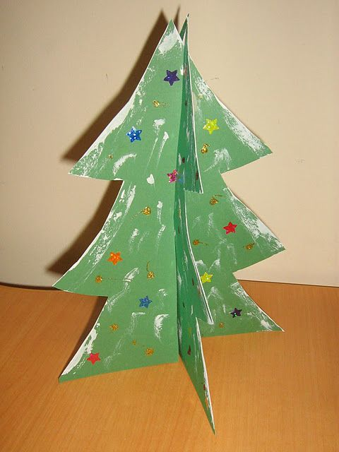 Standing Paper Christmas Trees With 1st Grade Students But They D