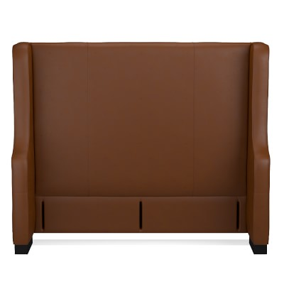 Taylor Headboard, California King, Tuscan Leather, Solid, Bourbon