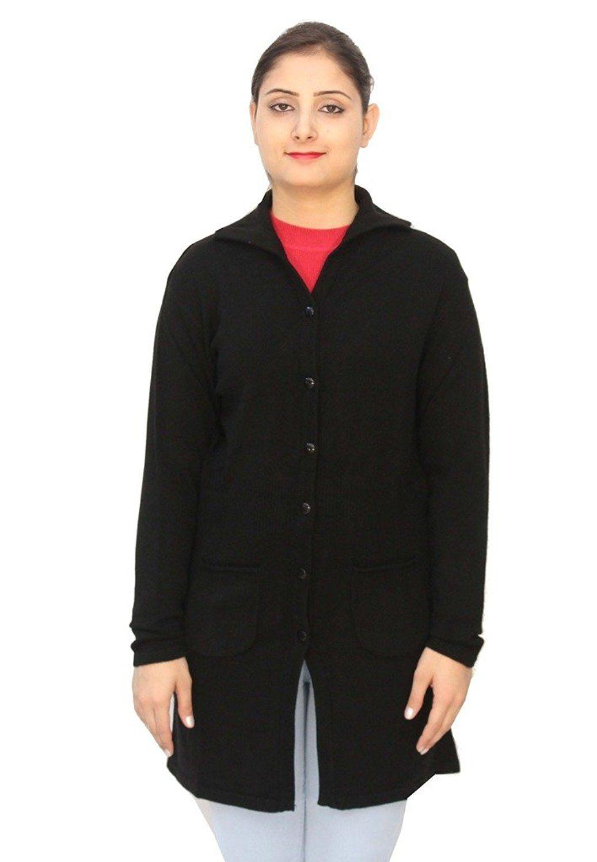 Romano Basic Purple 100% Wool Long Length Warm Winter Sweater Cardigan For Women * Sensational bargains just a click away : Women's Fashion for FREE