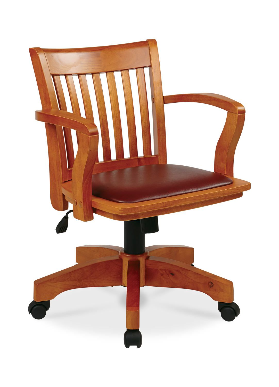 Deluxe Wood Bankers Chair W Arms Bankers Chair Wooden Office Chair Osp Home Furnishings