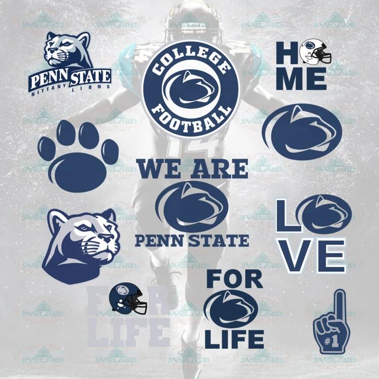 Penn State Nittany Lions Penn State Nittany Lions College Football College Football Svg Football Bundle File Nfl Ncaa In 2020 Penn State Penn State Nittany Lions Svg