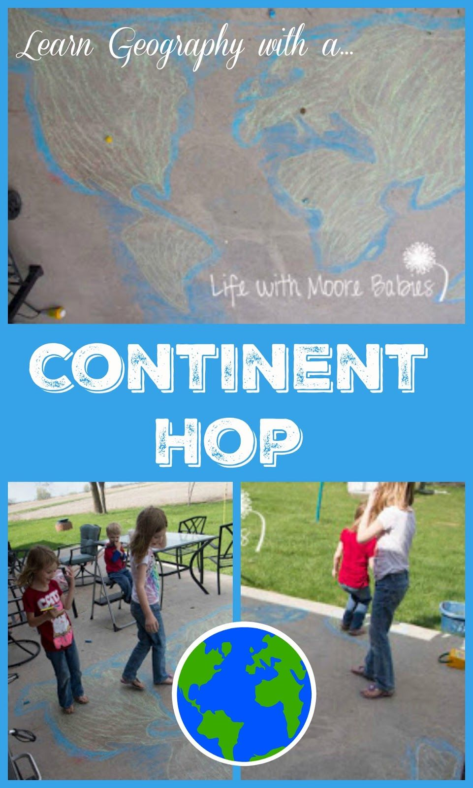 Outdoor Continent Hop Learning World Geography In Motion - Learn world geography