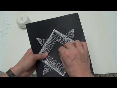 how to make string art on paper