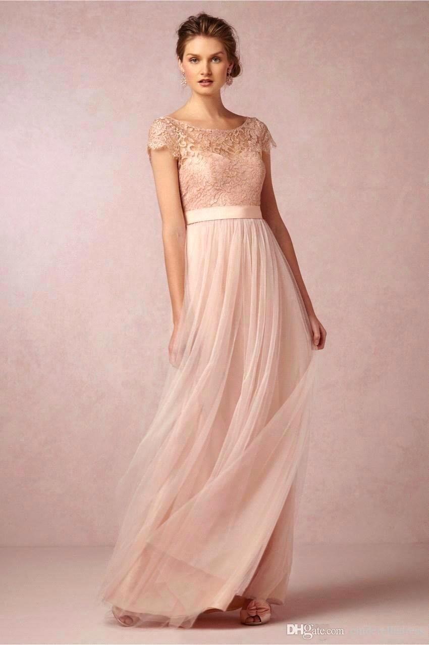 Robe Para Madrinhas rose en mousseline de soie robes de mariée 2015 ...