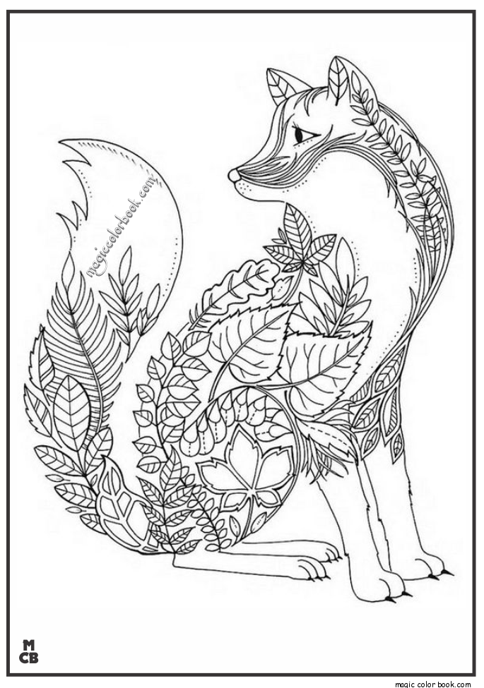 Fox Adults Patterns coloring pages | Adult Coloring Pages ...