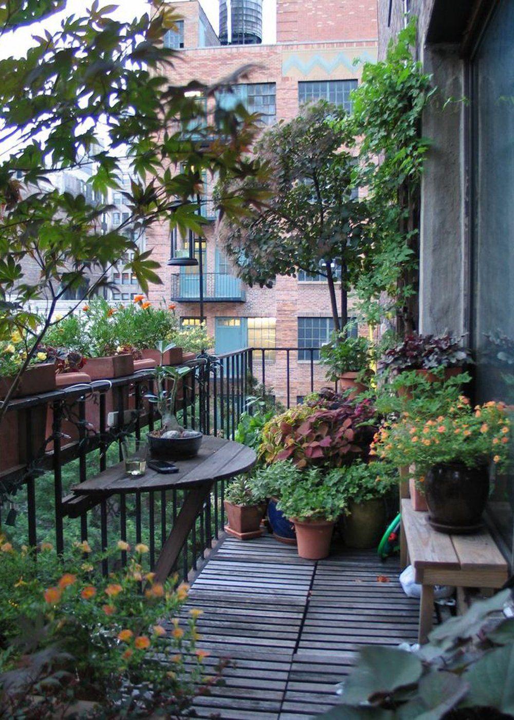 17 Ways to Redeem Your Balcony Space  Small balcony garden