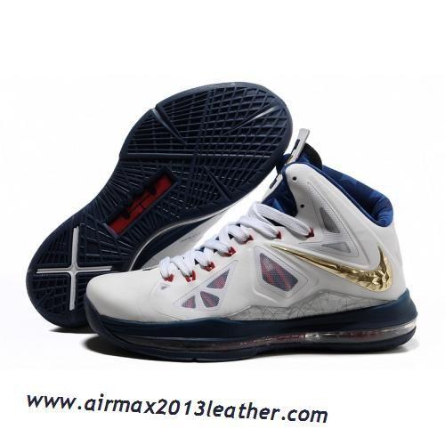 1519926d2a834 Nike Lebron X 10 2012 White Navy Gold Medal 2013