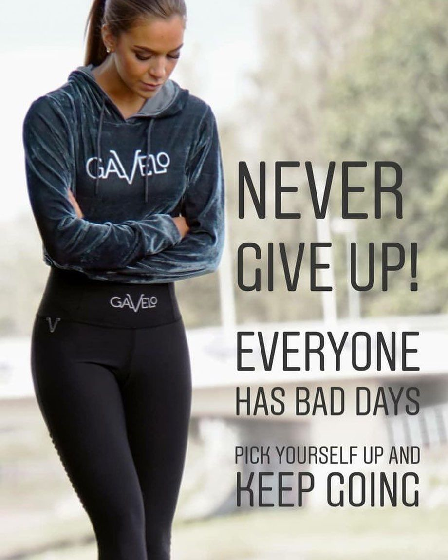 #Never give up! Everyone has bad days. Pick yourself up and keep going. #fitness#fitnessquotes.  The...