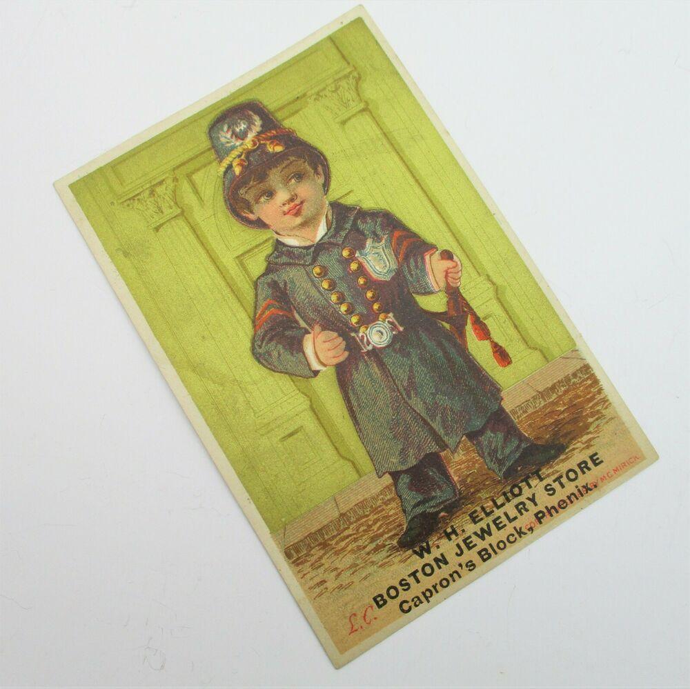 W.H. ELLIOTT BOSTON JEWELRY STORE Advertising Trade Card
