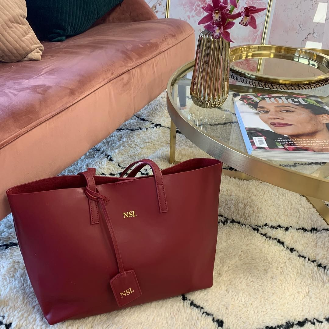 Azurina On Instagram Wine Tote Is Back In Stock Happy Saturday Lovelies From Azurina Hq Azurina Azurinagirl Monogrammed Leather Bag Tote Wine Tote