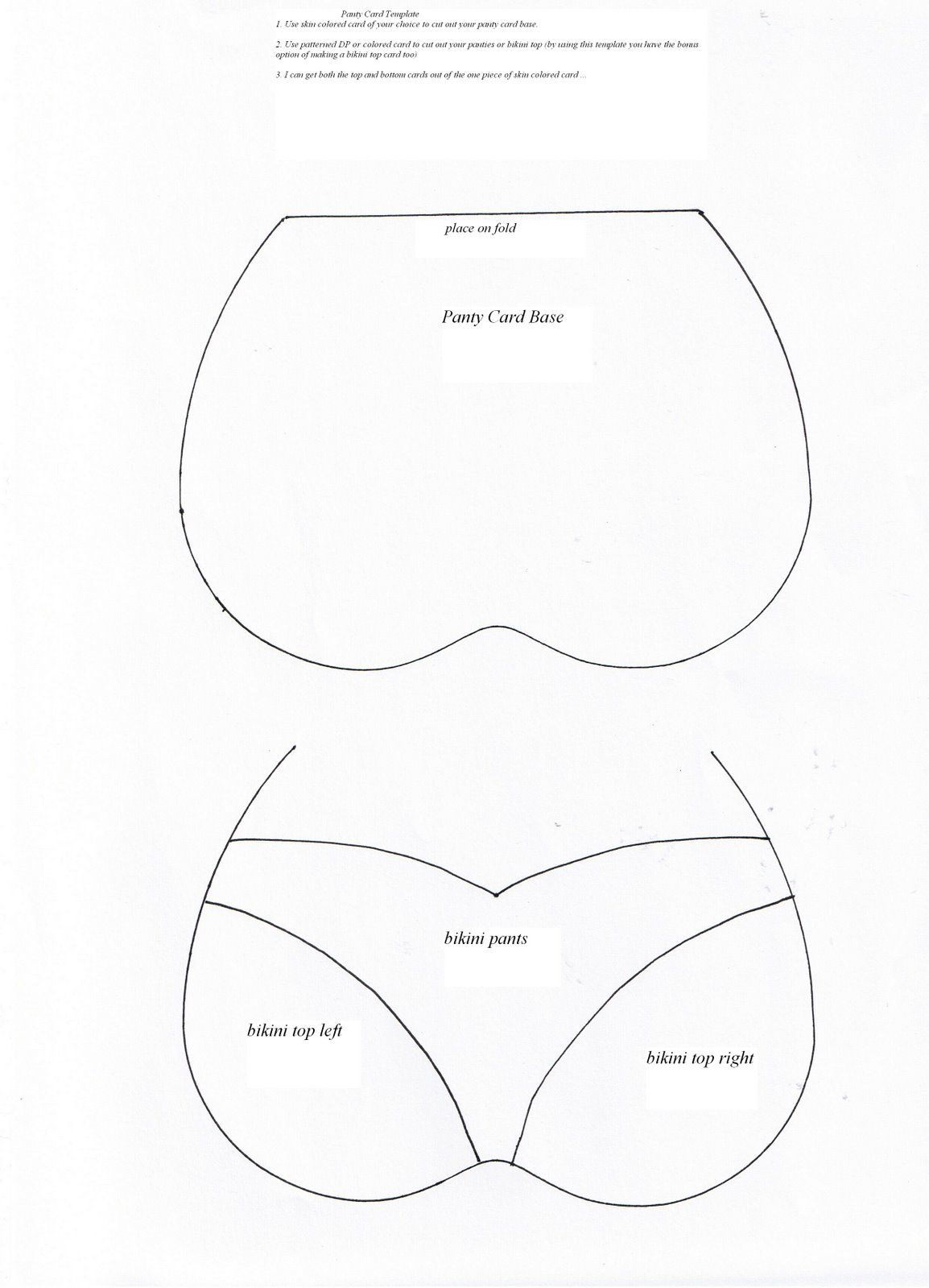 Panty Card Template Jpg Image Card Making Templates Card Patterns Cards Handmade