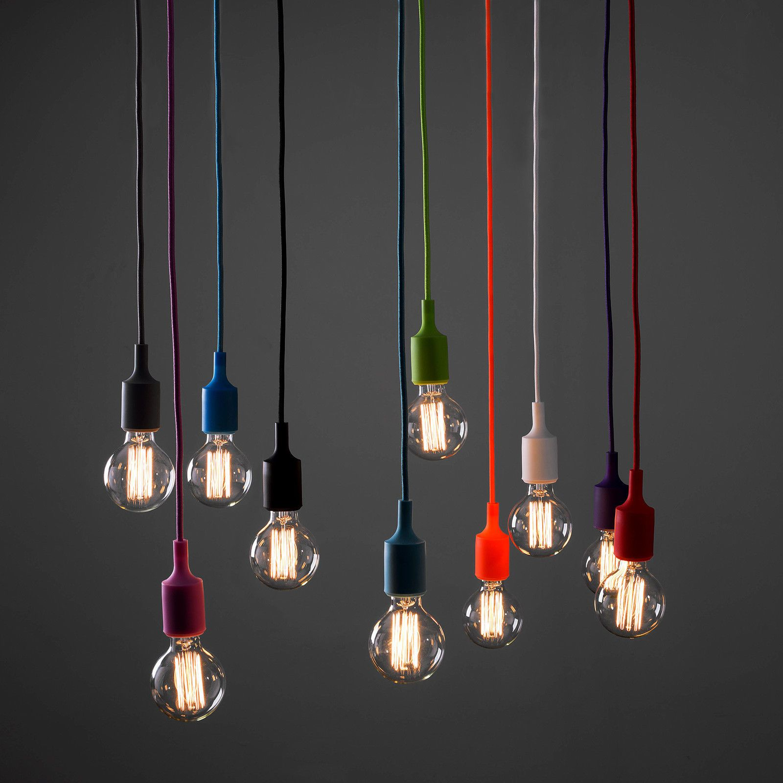 Designer style red silicone suspended ceiling light fitting designer style red silicone suspended ceiling light fitting pendant lighting ebay aloadofball Image collections