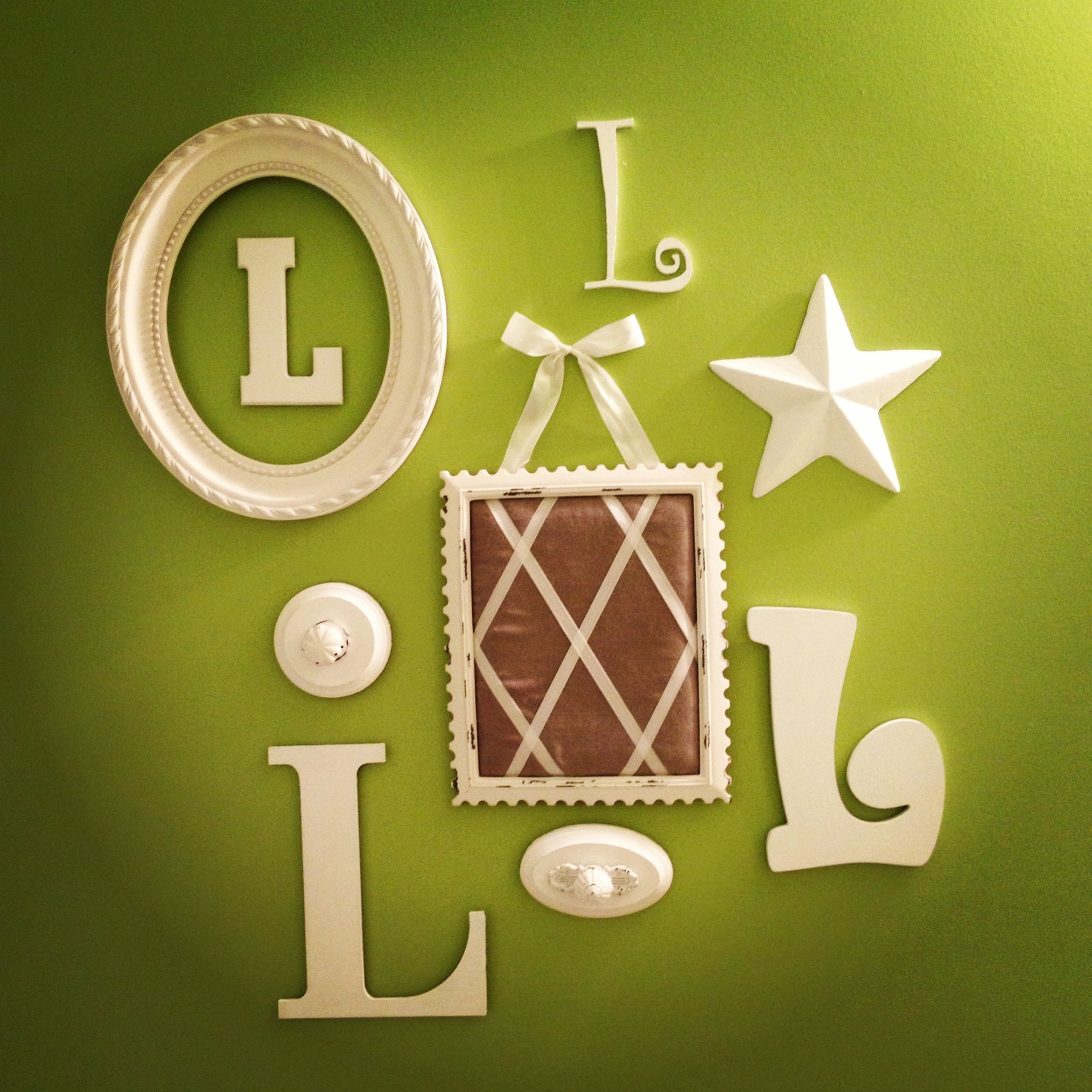 Letter collage for kids bathroom! | Craft Projects | Pinterest ...
