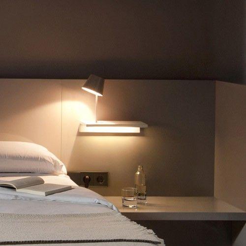 Suite Shelf And Reading Light Bedroom Lighting Ideas Lamps Modern Bedroom Lighting Vibia