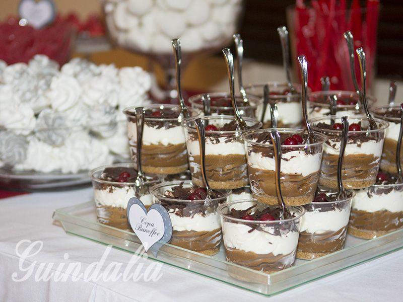 c0336bf3f Detalle mesa dulce. Copas Banoffee. | IDEAS PARA BODAS | Comidas ...