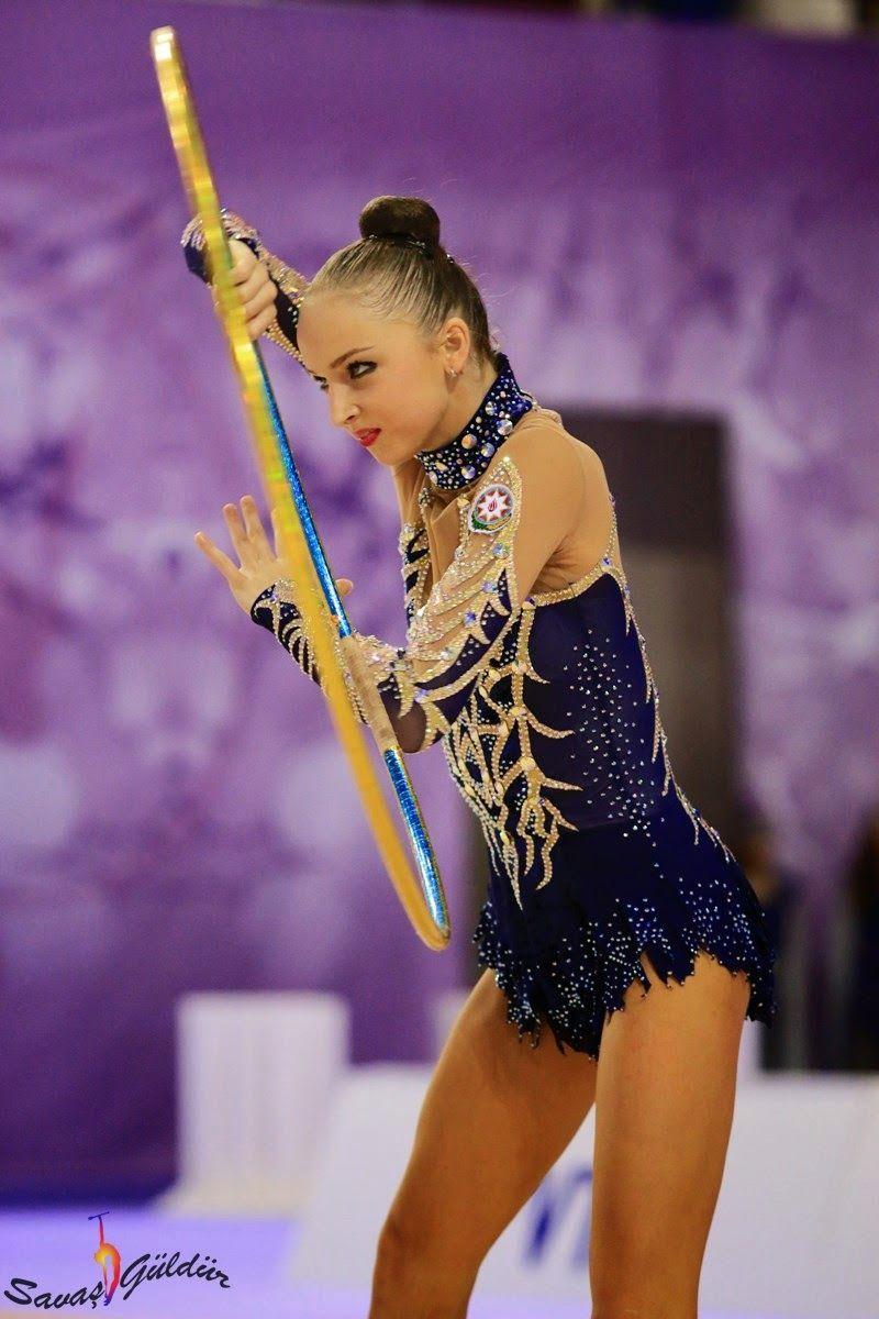 Marina Durunda, Azerbaijan, got 17.500 for her hoop in World Championships 2014 #rhythmic_gymnastics