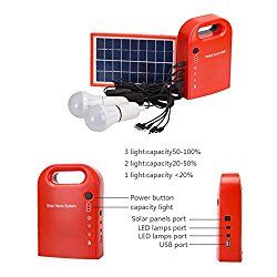 Gutreise Portable Home Outdoor Small Dc Solar Panels Charging Generator Power Generation System 4 5ah 6v Batteries With 6000k 6500k White Led Bulb And Mobile Solar Panels Solar Energy System Solar Installation