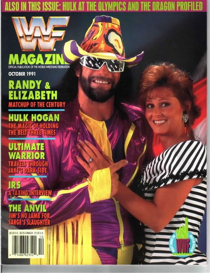 ea4986334d8 Randy and Liz on the cover of WWF magazine.  )