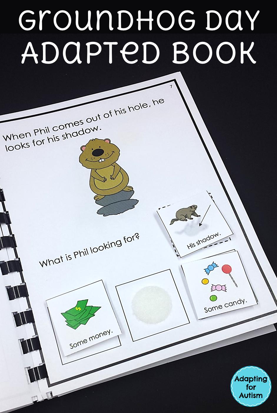 Interactive Adapted Book For Groundhog Day Perfect For Special Educat February Classroom Activities Literacy Activities Preschool Winter Classroom Activities [ 1402 x 941 Pixel ]