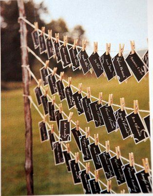 Outdoor weddings do yourself ideas bing images reception ideas place card display for outside solutioingenieria Gallery