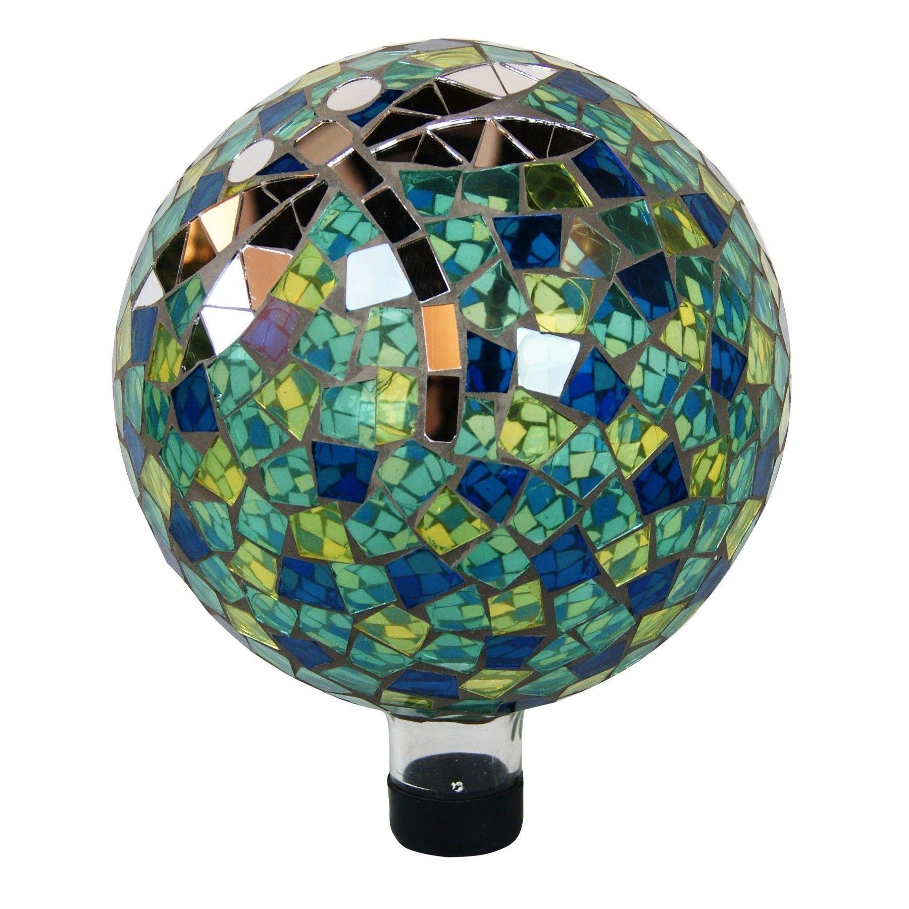 Alpine 10-inch Gazing Globe with Dragonfly (Multi Color) (Glass ...