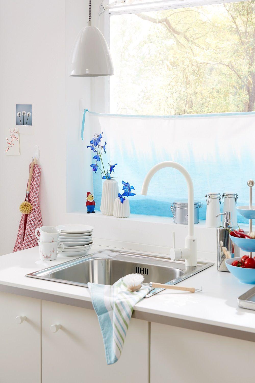 Sichtschutz // Es muss einem ja nicht jeder bei der Küchenarbeit auf ...