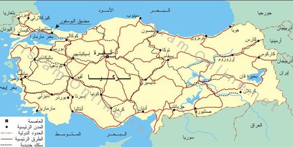 خريطة تركيا Map World Map Diagram