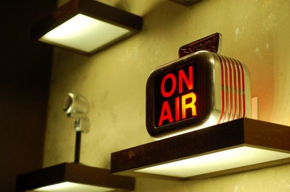 Antique microphones, Bob's Steak & Chop House, Omni Nashville Hotel #Nashville #MusicCity