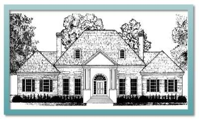Eastover Colonial Heritage Collection From Historicaldesigns Com Rectangle House Plans Historical Design House Plans