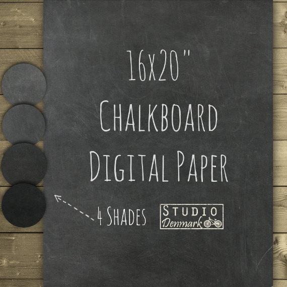 chalkboard digital paper 16x20 clean chalkboard background
