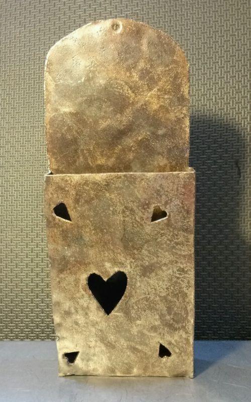"Sculpture: ($27.5) Custom Metal Fashioned 10.5"""" Letter Holder Heart Decor/Patterns Ooak Love Gift"