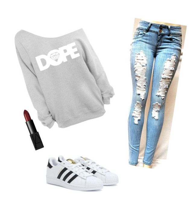 """""""Sin título #4"""" by albbbbba on Polyvore featuring adidas, NARS Cosmetics, women's clothing, women, female, woman, misses and juniors"""