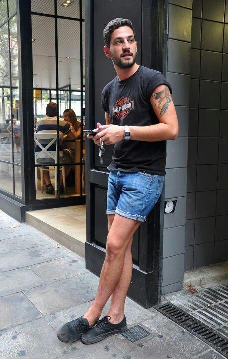 85b5f8b34d Jorts are my jam. Black on black vans Harley shirt jeans short denim  streetstyle casio watch Hipster tumblr