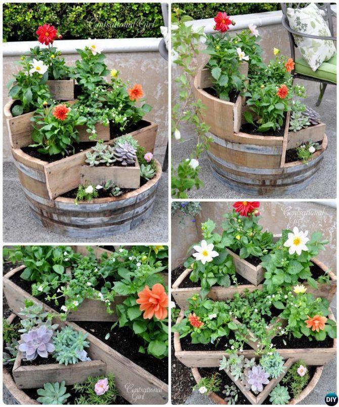 DIY Recycled Wine Barrel Planter Instructions 20 DIY