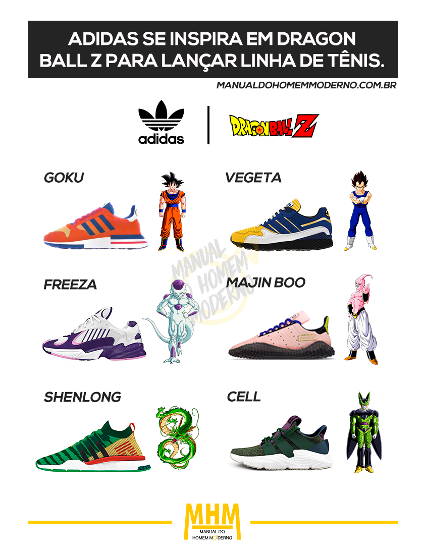 sports shoes 92a36 b4744 Adidas lança tênis inspirado em Dragon Ball Z.