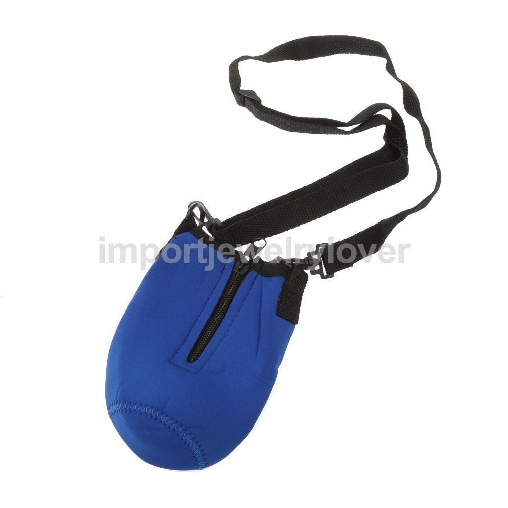 Outdoor 500ML Water Bottle Carrier Insulated Cover Bag Holder Shoulder Strap