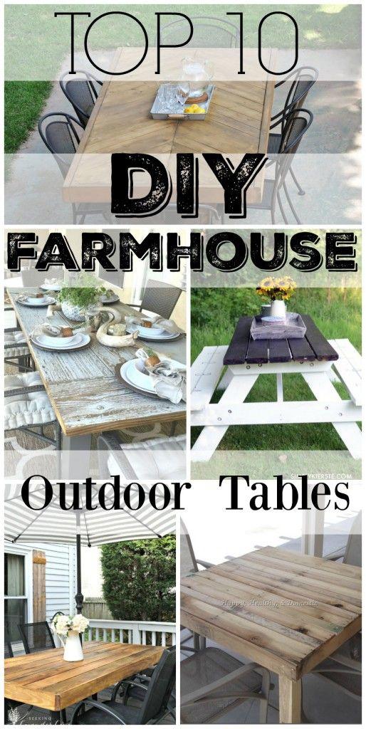 top 10 diy farmhouse outdoor tables meuble jardin diy meubles de jardin mobilier de