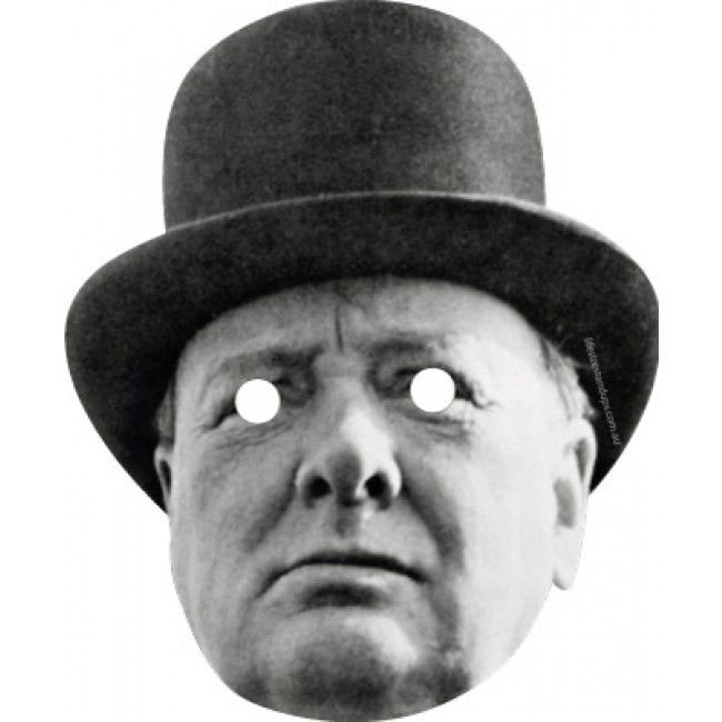 Masks Are Pre-Cut! Winston Churchill Prime Minister Celebrity Card Mask