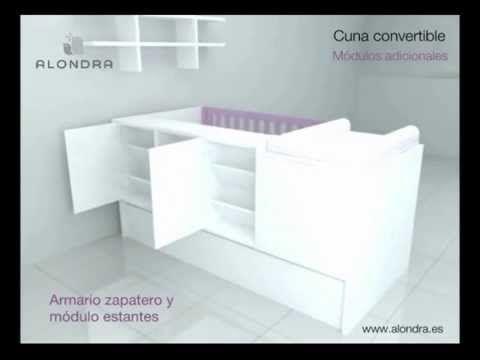 Cuna convertible barata disponible en el Outlet de Alondra - YouTube ...