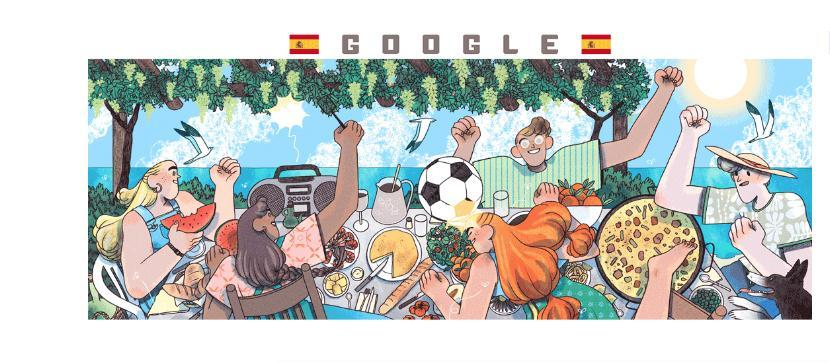 Google honors Spain in new Women's World Cup Doodle 1000