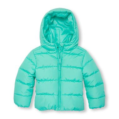 0ee995422 Toddler Girls Long Sleeve Hooded Basic Lightweight Puffer Jacket ...