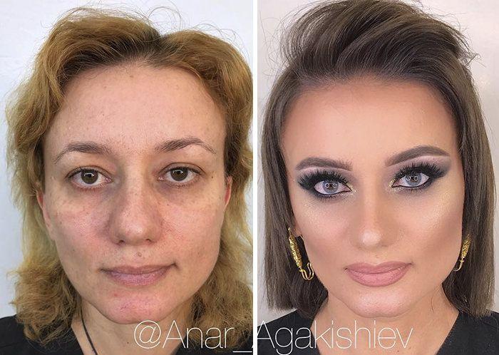 Photo of Make-up artist gjør kvinner så gamle som 80 ser yngre ut, viser hvor kraftig sminke er