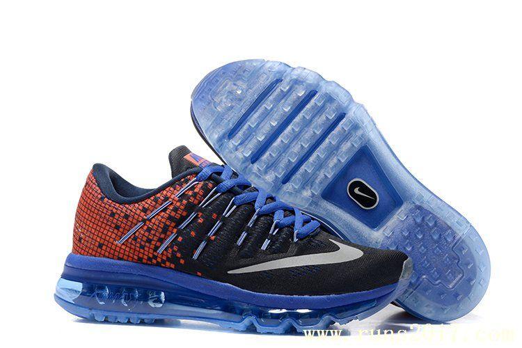 new style 9accb b0eca Nike Air Max 2016 Women Mesh Blue Black Red