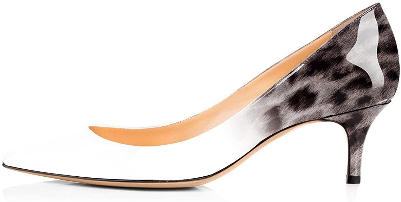 Yodeks Women S Middle Kitten Heels Court Shoes Slip On 6 5cm Comfort Closed Pointy Toe Party Club Office Dress High He In 2020 Kitten Heels Pumps Heels High Heel Pumps