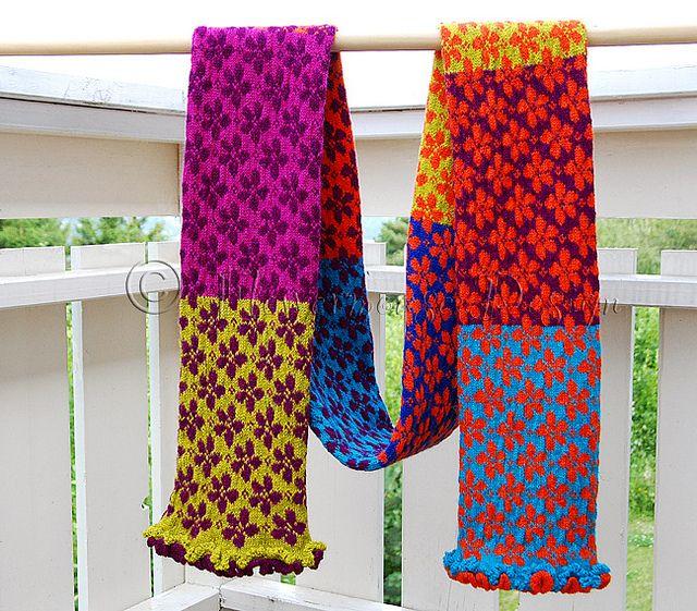 gorgeous scarf – created using danish designer Ruth Sorensen\'s daisy ...