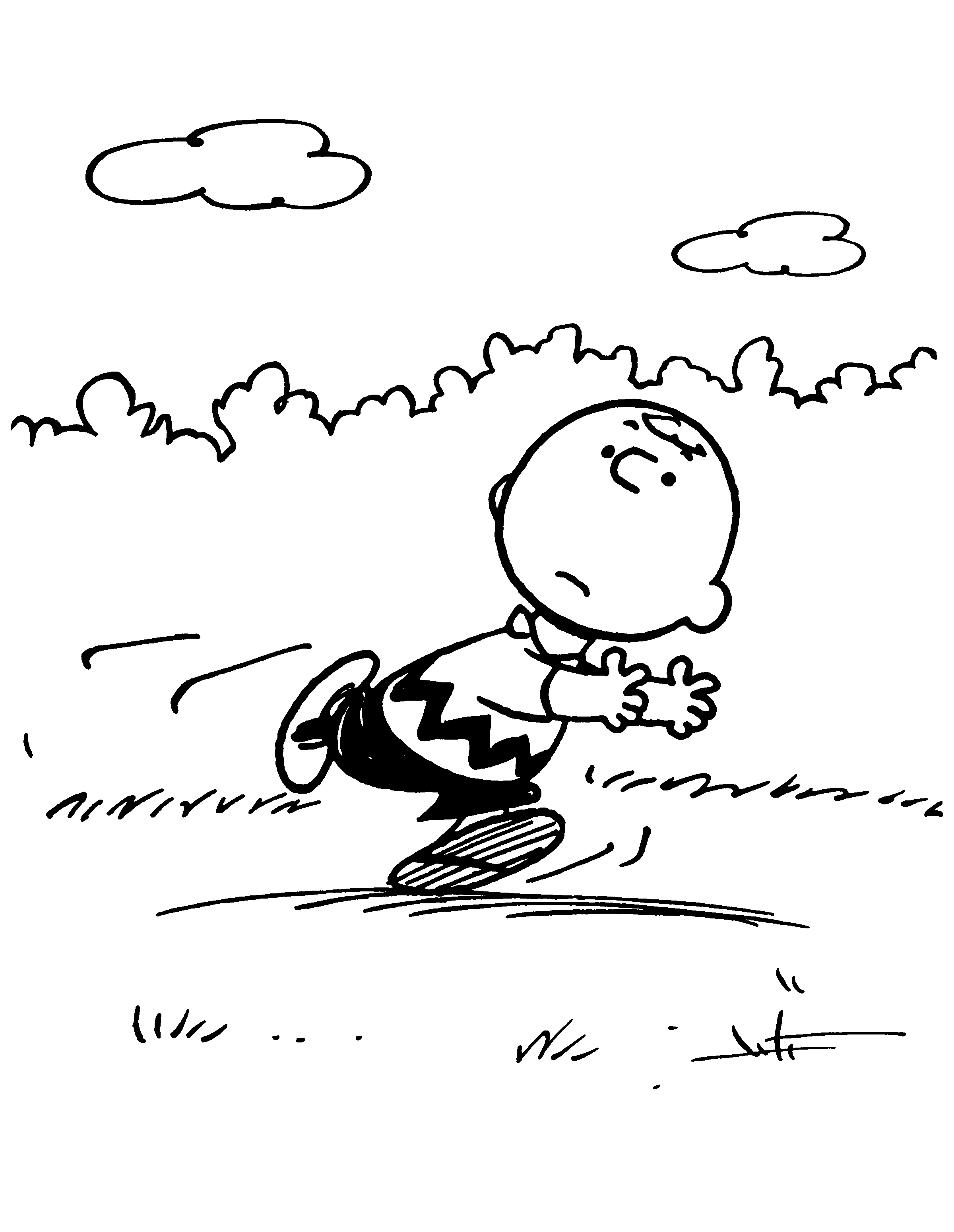 Coloring pictures charlie brown characters - Charlie Brown Coloring Sheet