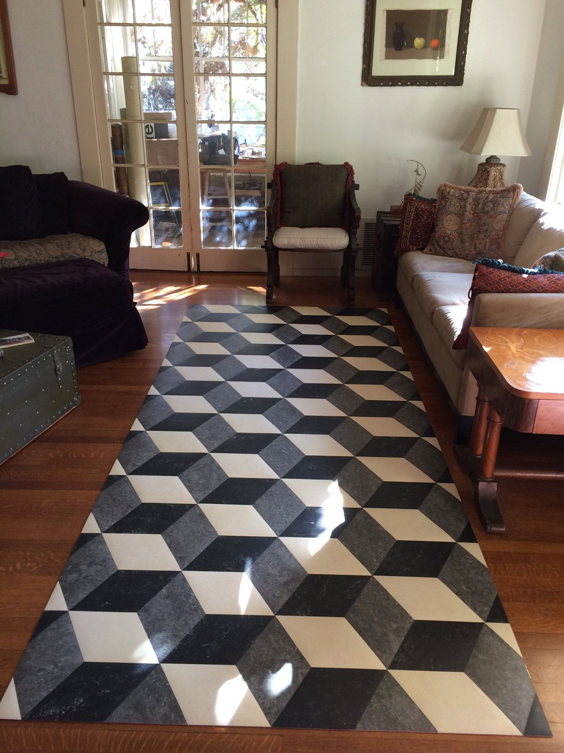 Tile Floor Designs For Living Rooms: Awesome Marmoleum For Contemporary Interior Floor Design