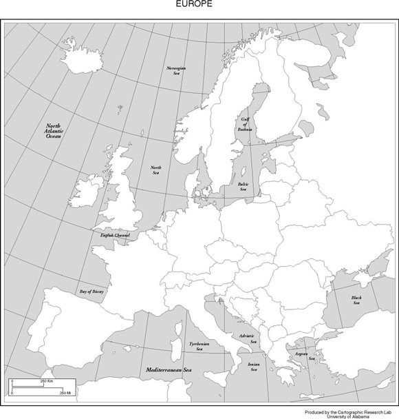 blank map of europe in the middle ages teaching g4 social studies. Black Bedroom Furniture Sets. Home Design Ideas