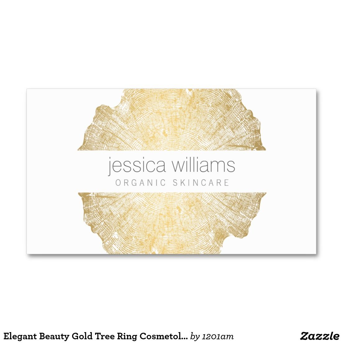 Luxe Wood Effect Art Cosmetologist Business Card | Brand design ...