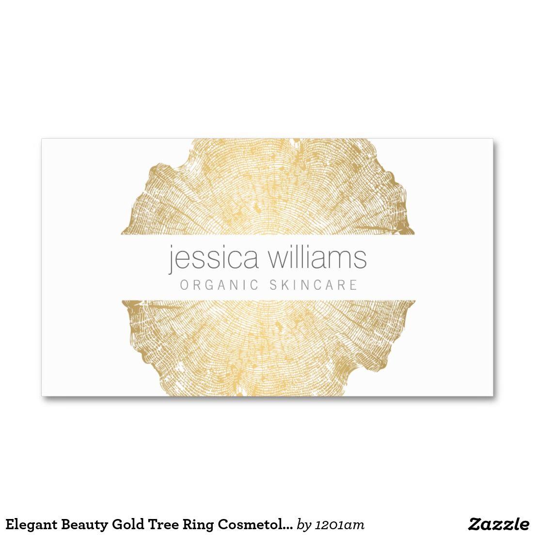 Luxe Wood Effect Art Cosmetologist Business Card | Brand design ...